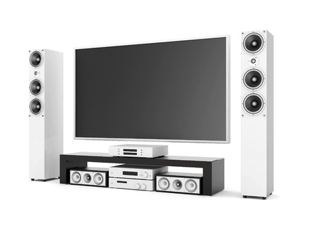 sub woofer: modern home theater on a white background