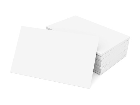 Business cards blank mockup - template - white background Stock Photo