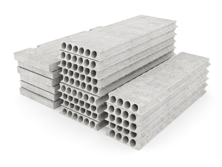 slabs of concrete on a white isolated background photo