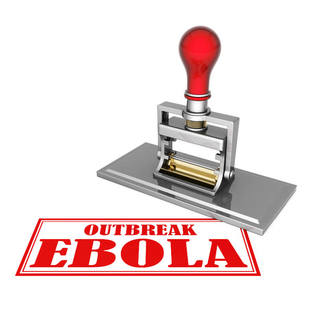outbreak: outbreak ebola beautiful stamp isolated on white background