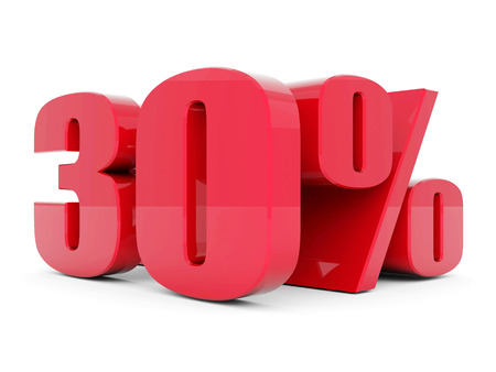 beautiful 3d red text SALE photo