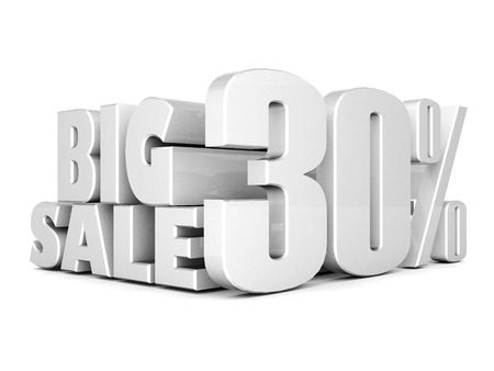 beautiful 3d silver text SALE photo