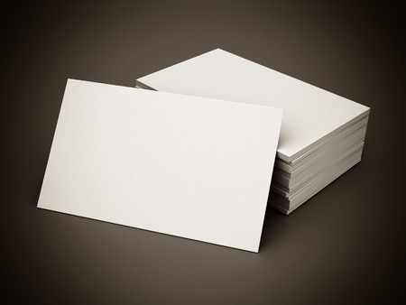 Business cards blank mockup - template - gray background. black and white