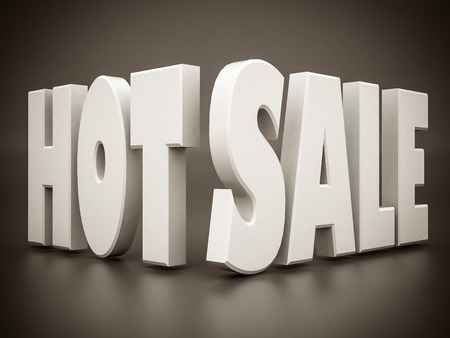 sales floor: beautiful 3d white text SALE. black and white