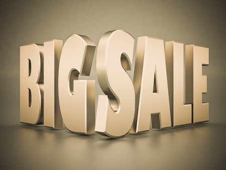 eshop: beautiful 3d text BIG SALE Stock Photo