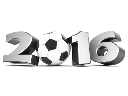 Happy new year 2016 isolated on a white background