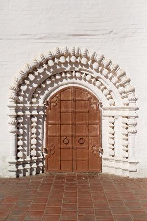 old doors: Photo beautiful old doors made of iron Stock Photo