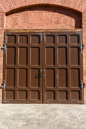 puertas viejas: Foto hermosa viejas puertas de hierro Foto de archivo