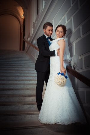 wedding photography: Wedding photography beautiful couple in the luxurious interior