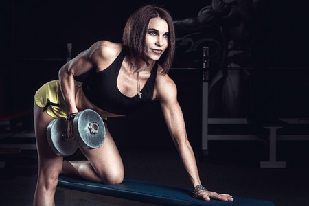 sport woman: Fitness woman, with a very beautiful sport and slim figure Stock Photo