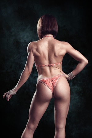 skimpy: Fitness woman, with a very beautiful sport and slim figure Stock Photo