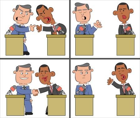 Obama and Romney Cartoon