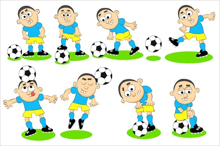 Cartoon illustrations of a soccer player    Vector