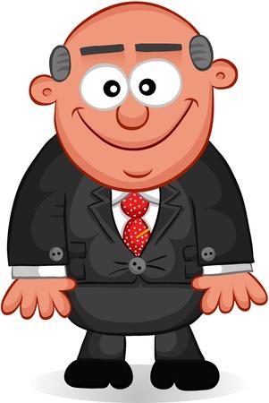 Businessman - Cartoon boss man smile  Stock Vector - 18677354