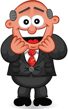 Businessman - Cartoon boss man laughing  Vector