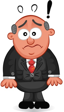 Businessman - Cartoon boss man looking shocked and surprised  Vector