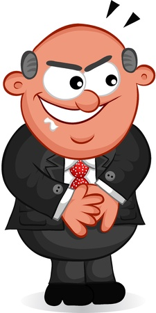 Businessman - Cartoon boss man looking sneaky  Vector