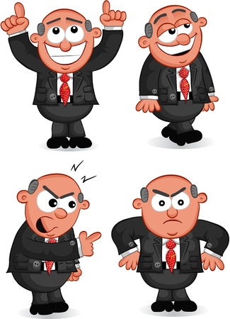 Cartoon boss man set  Stock Vector - 20462374