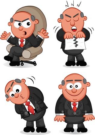 Cartoon boss man set
