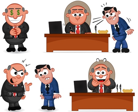 Cartoon boss man set  Stock Vector - 20462417