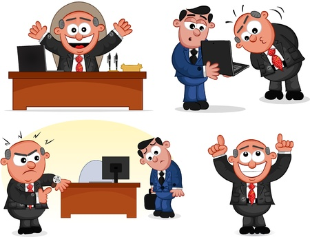 Cartoon boss man set  Stock Vector - 20462410