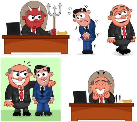 Cartoon boss man set  Stock Vector - 20462477