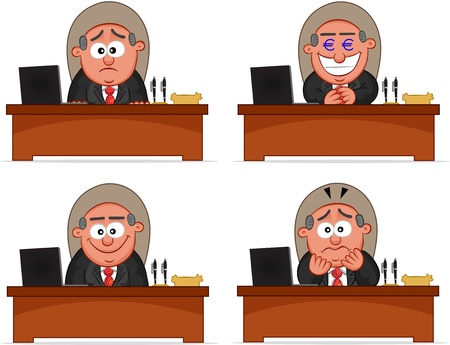 Cartoon boss man set  Stock Vector - 20462397