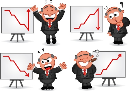 Cartoon boss man   Stock Vector - 20619891