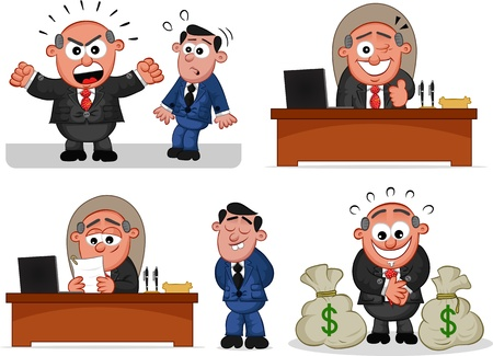 Cartoon boss man   Stock Vector - 20619894