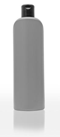 gray shampoo bottle. Isolated on white background Stock Photo - 9833828
