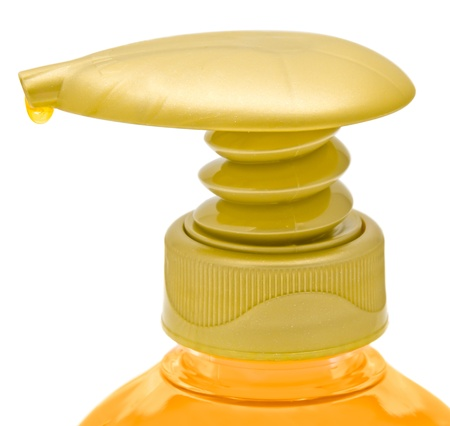 Dispenser bottle of liquid soap. Clipping path included. Stock Photo - 9833801