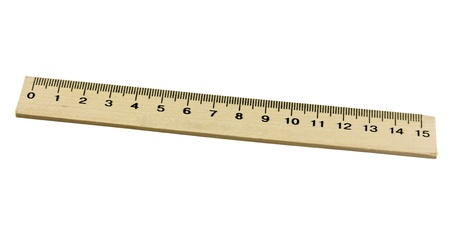 metric: Metric wood ruler, isolated on white background