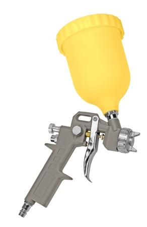 pistola para pintar. aislado en un fondo blanco.