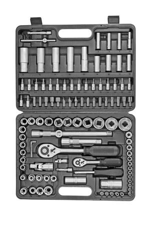 chrome vanadium: Big set tools isolated on a white background