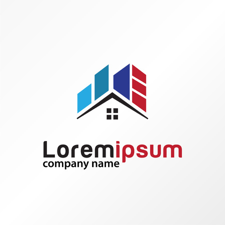 building real estate house logo vector