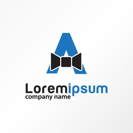 elegant tie letter A style logo vector Illustration