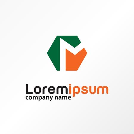Typography letter m. Illustration