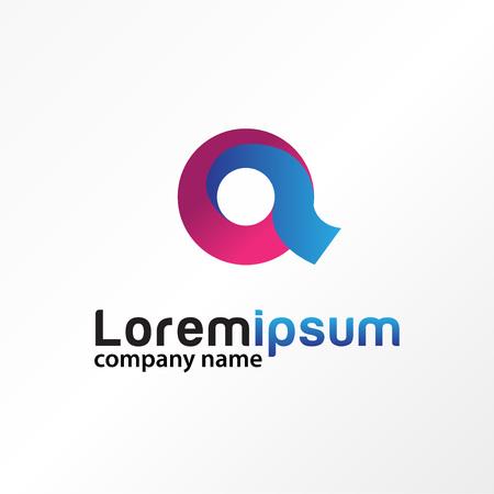 Letter a font typography logo vector. Illustration