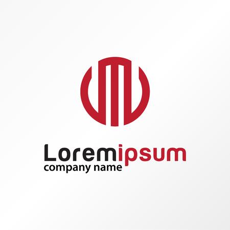 Modern letter m circle logo vector.