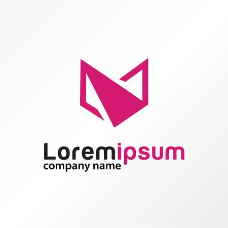 Letter v paper abstract logo vector.