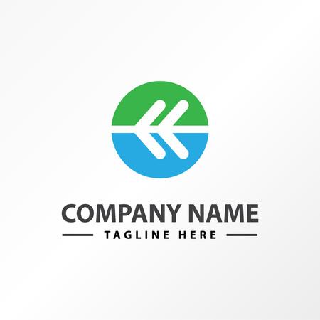 arrow button back right logo template