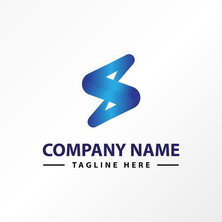 letter S technology logo template Illustration