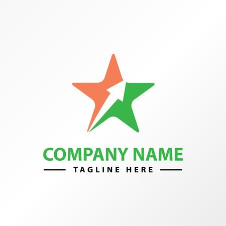 Star arrow success logo template. Illustration