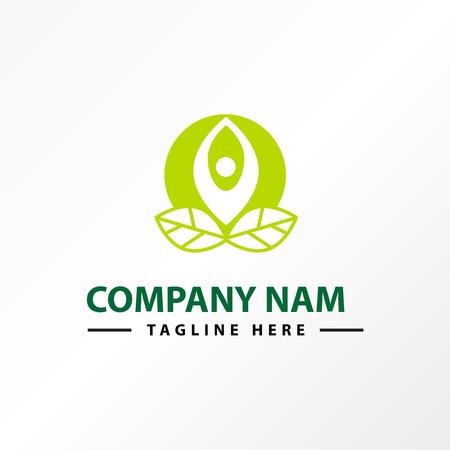 Green leaf people spa logo vector. Illustration