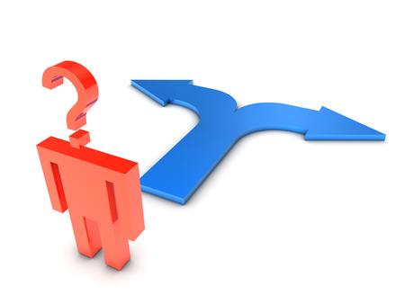 choosing: Choosing a path Stock Photo