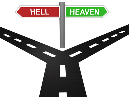 heaven and hell: Path to heaven and hell