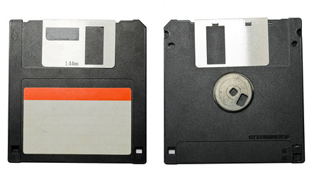 Floppy disk front and back Stock Photo