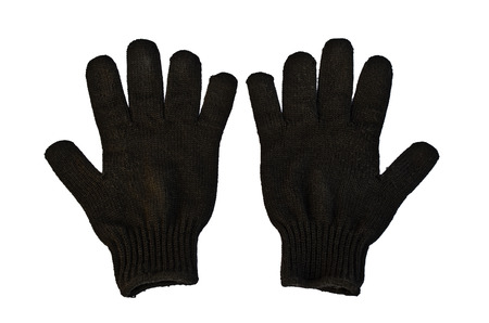 woolen: Black Woolen Gloves