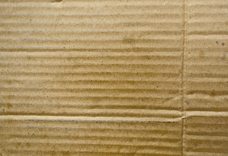 corrugation: Grunge recycled cardboard texture Stock Photo