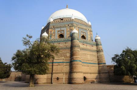 shah: Tomb of Shah Rukn-e-Alam Multan Editorial
